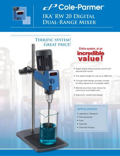 Cole-Parmer® IKA mixers brochure