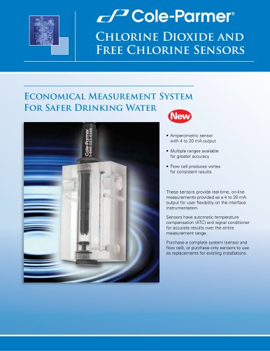 Cole-Parmer®loop powered chlorine and chlorine dioxide sensors