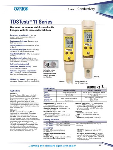 TDSTestr® 11 Series