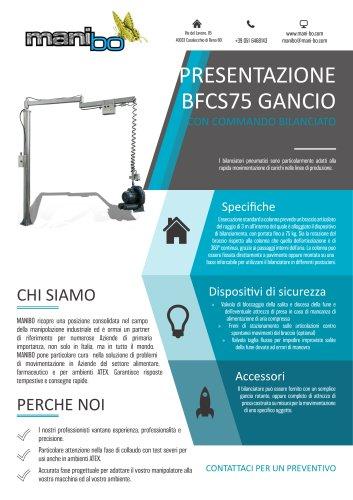 BILANCIATORE BFCS75 - GANCIO CON COMMANDO BILANCIATO