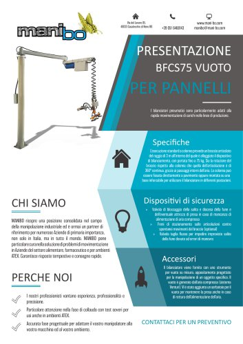BILANCIATORE BFCS75 - VUOTO PER PANNELLI