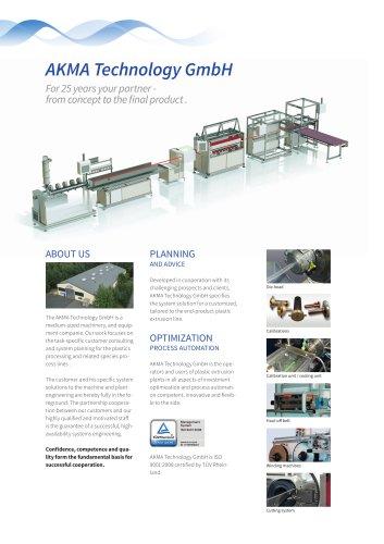 Flyer AKMA Technology GmbH Energy-efficient extrusion