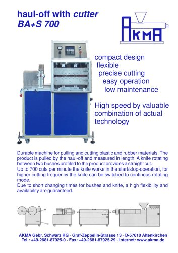 haul-off with cutter BA+S 700