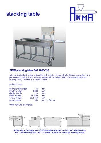 Stacking table BAT 2000-050