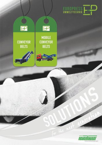 Product overview conceyor belts
