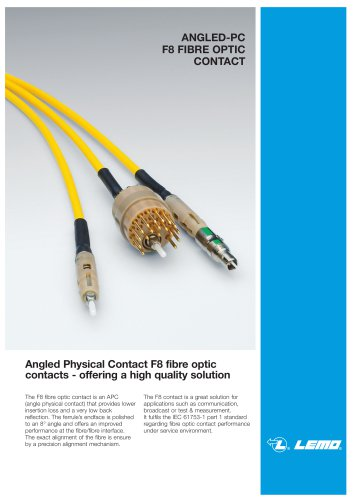 ANGLED-PC F8 FIBRE OPTIC CONTACT