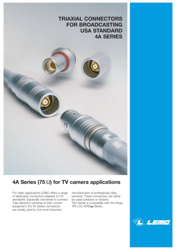 Broadcast 4A triaxial connector
