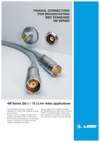 Broadcast 4M series triaxial connector
