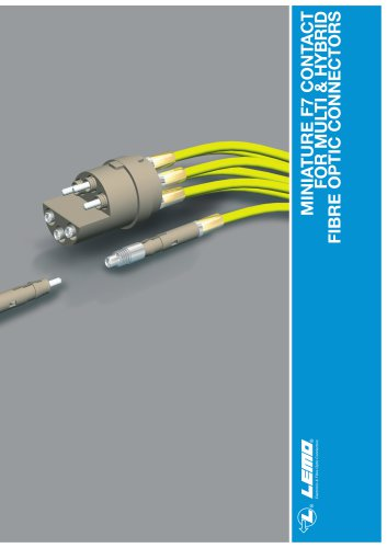 MINIATURE F7 CONTACT FOR MULTI & HYBRID FIBRE OPTIC CONNECTORS