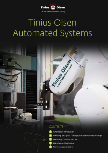 Automated systems from Tinius Olsen