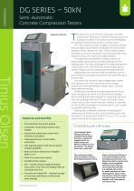 DG SERIES – 50kN Semi-Automatic Concrete Compression Testers from Tinius Olsen