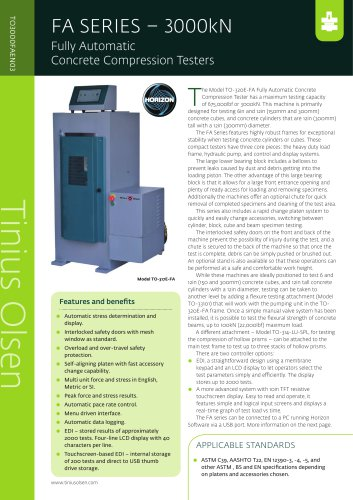 FA SERIES – 3000kN Fully Automatic Concrete Compression Testers from Tinius Olsen