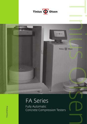 FA Series Fully Automatic Concrete Compression Testers from Tinius Olsen