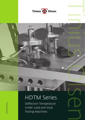 HDTM Series - Deflection Temperature Under Load and Vicat Testing Machines from Tinius Olsen