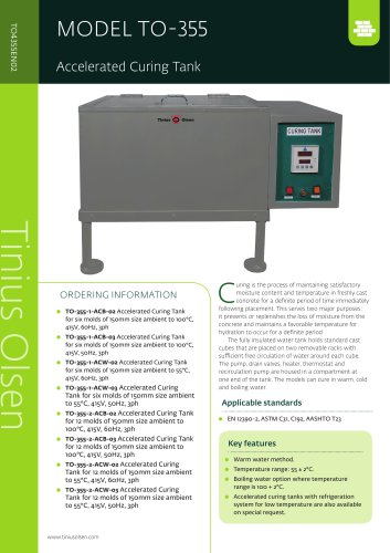 MODEL TO-355 Accelerated Curing Tank from Tinius Olsen