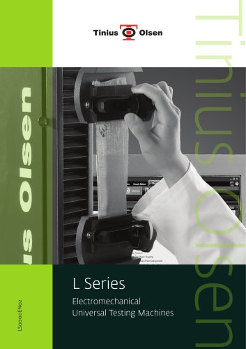 L Series - Electromechanical Universal Testing Machines from Tinius Olsen