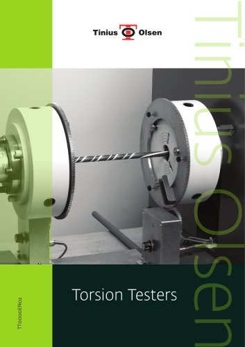 Torsion Testers from Tinius Olsen