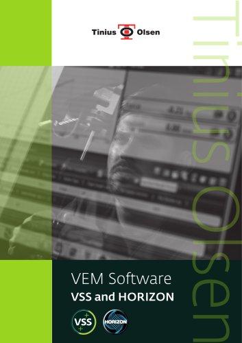 VEM Software - VSS and HORIZON from Tinius Olsen