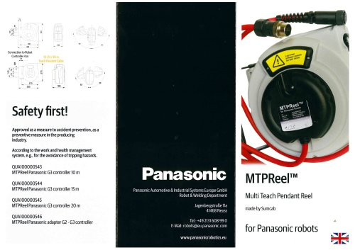 MTPReel – Teach Pendant cable retract system
