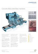 Wheelabrator Concrete block shot blast machines