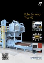 Wheelabrator Type HD Roller Conveyor Blast machine