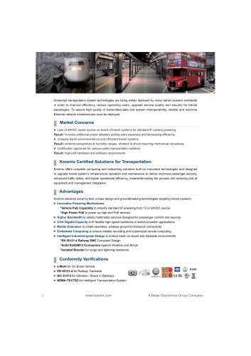 Korenix 2011 Transportation Brochure