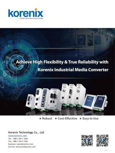 Korenix Industrial Media Converter one-page Flyer