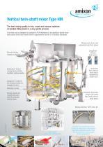 Vertical twin-shaft mixer Type HM