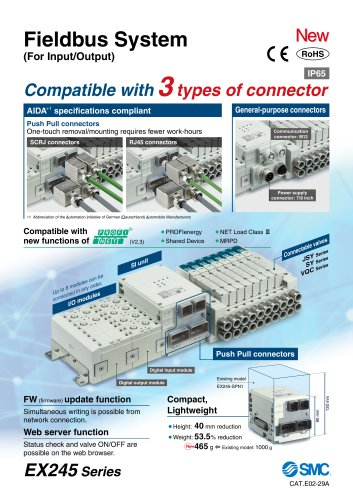 Fieldbus System (For Input/Output)
