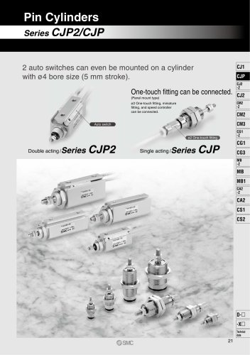 Pin Cylinder CJP2/CDJP2/CJP