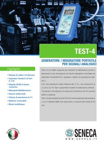 Generatore, misuratore portatile V-mA