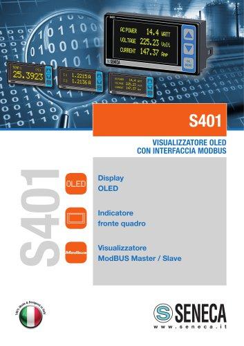 S401 Visualizzatore oled con interfaccia modbus