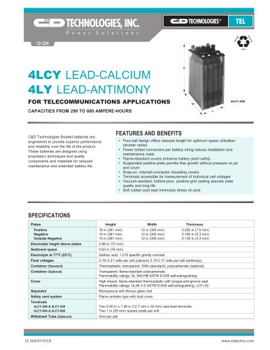 4LCY LEAD-CALCIUM 4LY LEAD-ANTIMONY