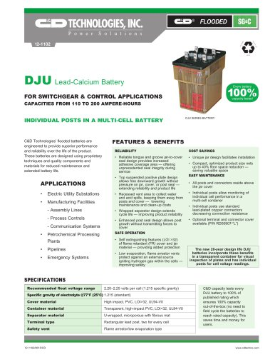 DJU Lead-Calcium Battery