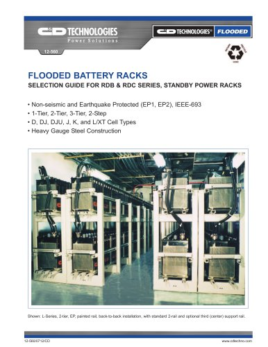 FLOODED BATTERY RACKS