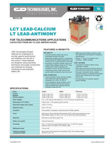 LCT LEAD-CALCIUM LT LEAD-ANTIMONY