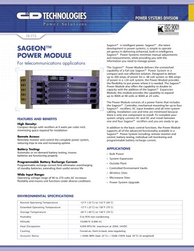 Sageon™ Power Module