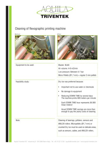 Cleaning of printing machine - Case study