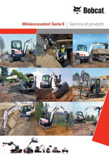 Escavatori: gamma dei prodotti