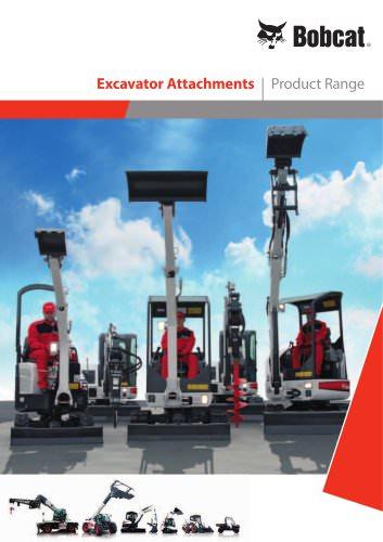 Excavators attachments - Product range