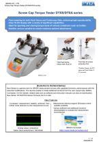 Screw-cap Torque Tester DTXS/DTXA series