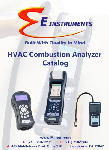 E Instruments HVAC Catalog 2016