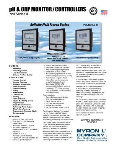 720 Series II :pH/ORP Monitor/controller