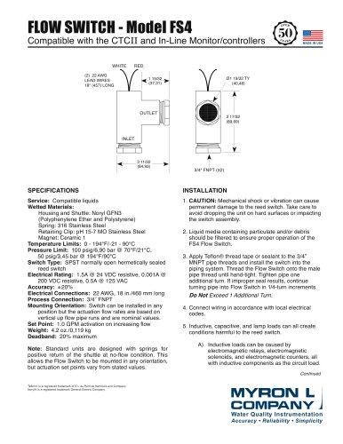 Flow Switch™ (Model FS4)