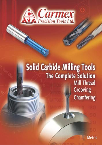 Solid Carbide Milling Tools Leaflet - Metric