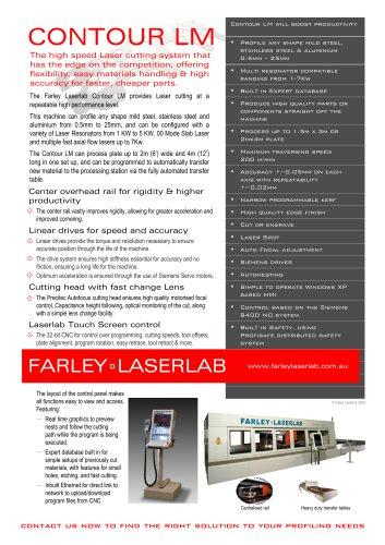 Farley Laserlab Contour LM Cutting Machine Brochure