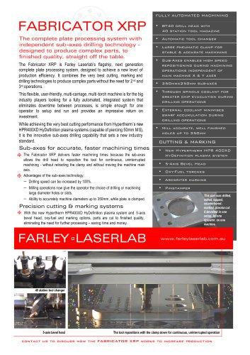 Farley Laserlab XRP Brochure Plasma Cutting Machine