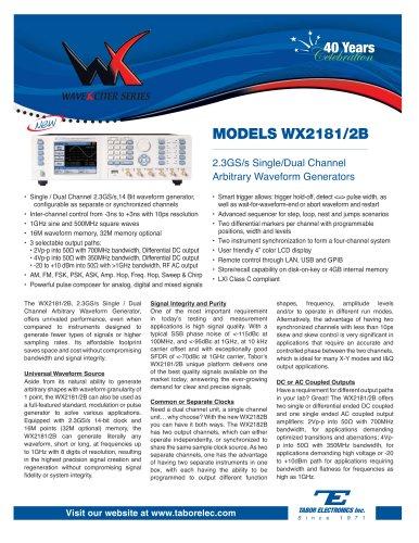 Model WX2181/2B  2.3GS/s Single/Dual Channel Arbitrary Waveform Generator
