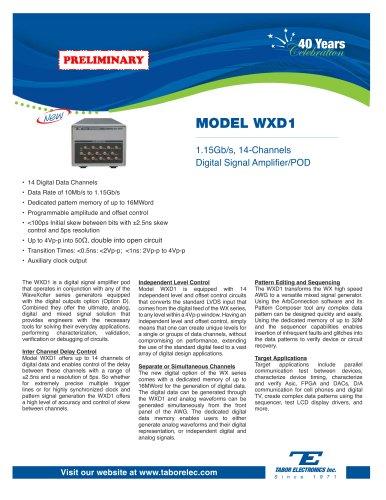 Model WXD1 1.15Gb/s, 14-Channels Digital Signal Amplifier/POD