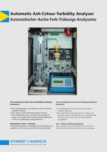 Automatic Ash-Colour-Turbidity Analyser